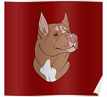 Pit Bull Pride- Red Point Poster