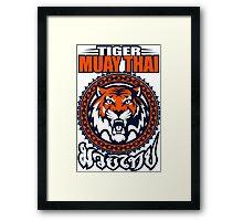 tiger sagat muay thai 3 thailand martial art Framed Print