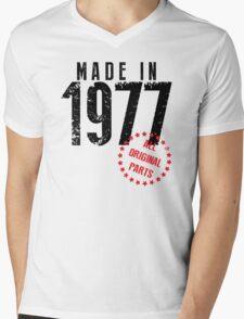 Made In 1977, All Original Parts Mens V-Neck T-Shirt
