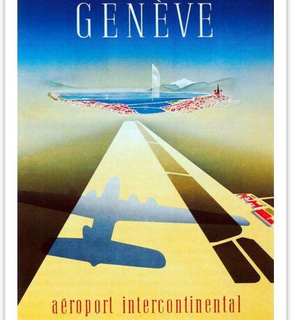 Vintage Airline Geneva Switzerland Travel Sticker