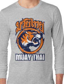tiger sagat muay thai 4 thailand martial art Long Sleeve T-Shirt