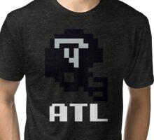 Tecmo Bowl Atlanta Football 8-Bit NES Nintendo Pixel T Shirt Tri-blend T-Shirt