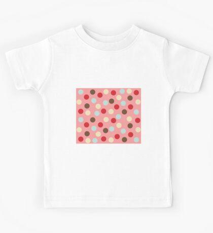 Christmas polka dots pink Kids Tee