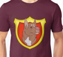 Pit Bull Pride- Red Point with Crest Unisex T-Shirt
