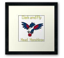 Head HonchKrow Framed Print