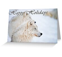 Arctic Wolf Holiday Card - 11 Greeting Card