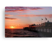 First Light at Paignton Pier Metal Print