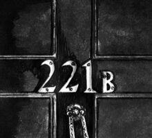 Sherlock - 221b Sticker