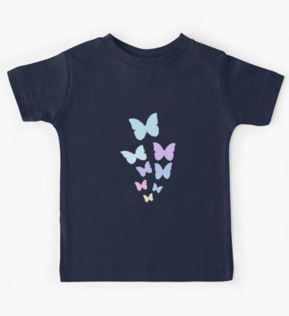 Pastel Butterflies Kids Tee