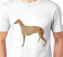 greyhound silhouette brindle fur Unisex T-Shirt