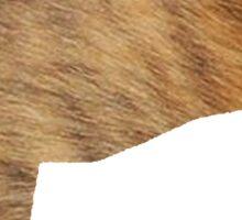 greyhound silhouette brindle fur Sticker