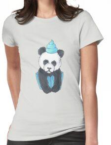 Panda Cupcake Womens Fitted T-Shirt