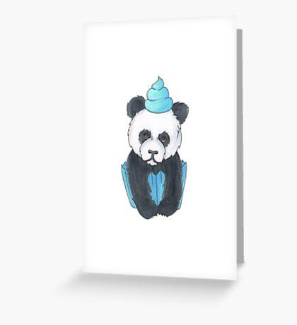 Panda Cupcake Greeting Card