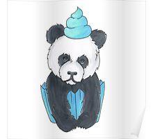 Panda Cupcake Poster