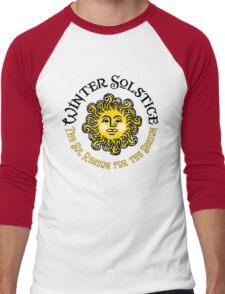 WINTER SOLSTICE -The Sol Reason for the Season Men's Baseball ¾ T-Shirt