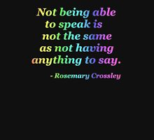Not Being Able to Speak - neon rainbow T-Shirt