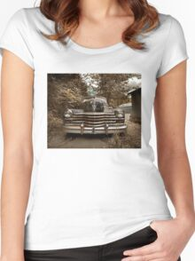 Abandoned 1948 Cadillac Limo Women's Fitted Scoop T-Shirt