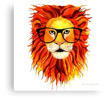 Monsieur Lion - For all my geeks out there Canvas Print