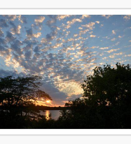 Sunset Across Mozingo Lake Sticker