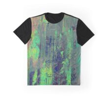 Aqua Abstract Graphic T-Shirt