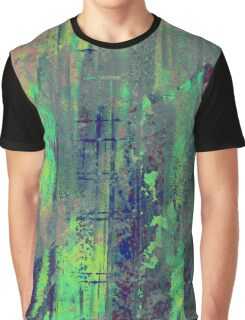 Aqua Abstract Graphic T-Shirt