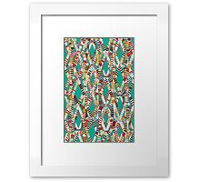 knot drop turquoise Framed Print
