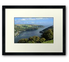 The River Dart Estuary. Framed Print