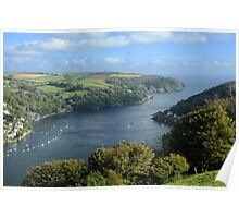 The River Dart Estuary. Poster