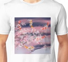 Koi with Blossom reflections Unisex T-Shirt