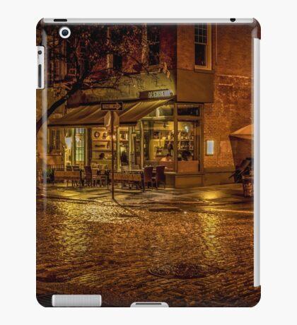 Rain On The Cobblestones Of Greenwich Village iPad Case/Skin
