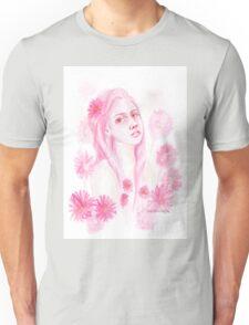 Gerbera Girl / watercolour Unisex T-Shirt