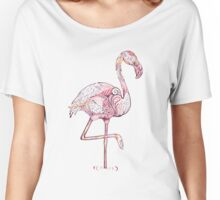 Pink Flamingo  Zentangle Abstract  Women's Relaxed Fit T-Shirt