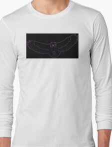Soaring Owl Gradient Long Sleeve T-Shirt