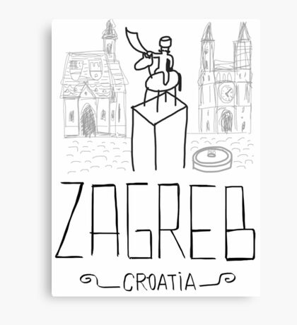 Íconos de Zagreb Canvas Print