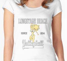 Little Monster Girl Retro Sport Design Women's Fitted Scoop T-Shirt