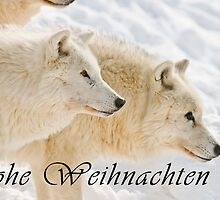 Arctic Wolf Christmas Card - German - 13 by WolvesOnly