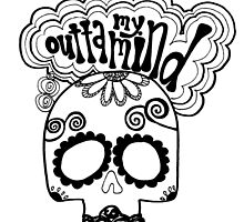 """Outta My Mind"" Hipster Skull by alexavec"