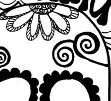 """""""Outta My Mind"""" Hipster Skull Sticker"""
