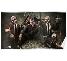 PayDay Film Game Clowns Halloween Poster