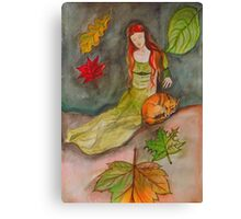 Lady and The Fox Canvas Print