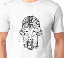 Hippie Elephant Hamsa Unisex T-Shirt