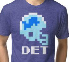 Tecmo Bowl Detroit Football 8-Bit NES Nintendo Pixel T Shirt Tri-blend T-Shirt