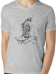 Fish in Boot Mens V-Neck T-Shirt