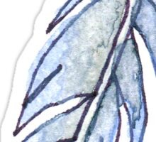 Periwinkle Feather Sticker