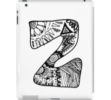"Hipster Letter ""Z"" Zentangle iPad Case/Skin"