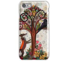 fox and crow iPhone Case/Skin