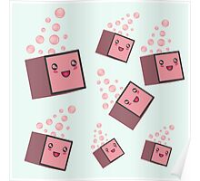 cute fizzy pink cubes Poster