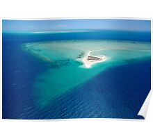Remote sand cay Poster