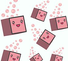 cute fizzy pink cubes by Elys XXI