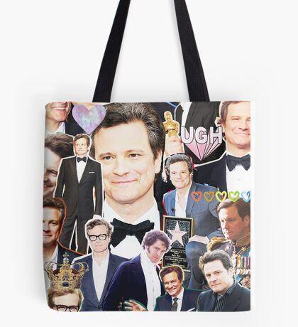 colin firth collage Tote Bag